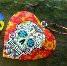 day of the dead new poppies grateful dead shape ornament the