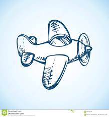 toy airplane vector drawing stock vector image 68842646
