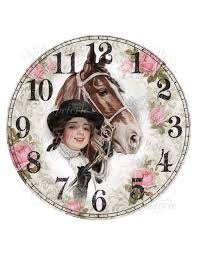 shabby chic clock diy clock face with vintage image of a