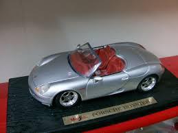 Porsche Boxster Model Car - maisto 1 18 porsche boxster silver cabriolet die cast model on