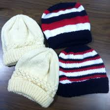 hand knitted hats are great for operation christmas child shoe