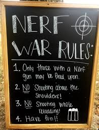 zombie halloween party invitations nerf war birthday party rules downloadable by paperrecollectionsaz