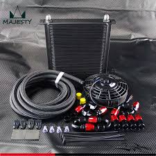 oil cooler fan kit 40 row an10 engine oil cooler 5m oil line fittings 7 electric