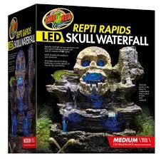 Zoo Med Lights by Repti Rapids Led Waterfall U2013 Medium Skull Zoo Med Laboratories