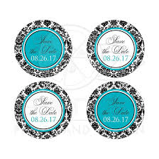 save the date stickers save the date wedding sticker 2 black and white damask