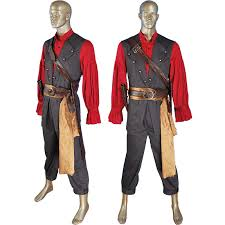 Dead Pirate Costume Halloween Pirates Caribbean Dead Man U0027s Chest Turner Cosplay