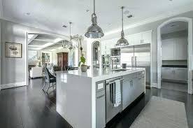 kitchen counter island waterfall kitchen counter flatworld co