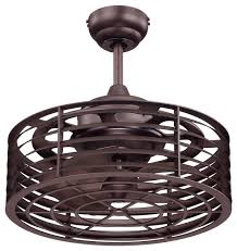 Ceiling Fan With Cage Light Ceiling Fan Design Circle Big Industrial Cage Indoor With Regard