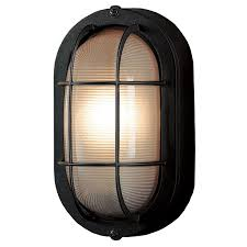 Lowes Porch Lights by Shop Portfolio 8 27 In H Sand Black Outdoor Wall Light At Lowes Com