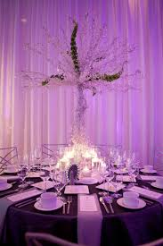 wedding reception table high non floral centerpiece