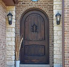 How To Make A Exterior Door Alder Doors Rustic Exterior Arch Top Doors