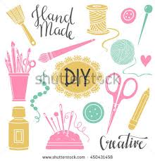 arts crafts sewing painting hand drawn stock vector 450431458