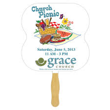 church fans personalized non laminated custom printed stick fans fanprinter your