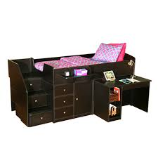 berg furniture sierra captain u0027s full bed with pull out desk