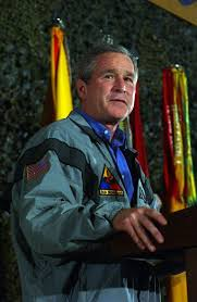 president bush meets with troops in iraq on thanksgiving