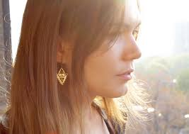 triangle arrow goddess earrings hebe and artemis arsaeus designs