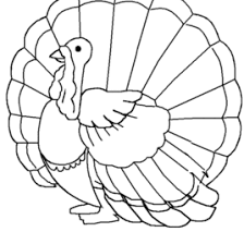 easy turkey coloring page for thanksgiving u2013 easy coloring pages