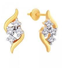 d damas gold earrings earrings 18k yellow gold 1 31 gms d damas diamond earrings