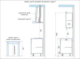 meubles cuisine sur mesure hauteur meuble de cuisine inspirations avec hauteur plan de travail