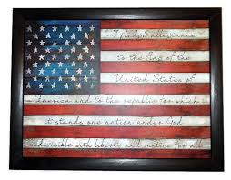american flag home decor american flag the pledge of allegiance patriotic home