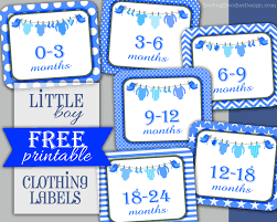 Baby Closet Dividers Little Boy Clothing Labels Free Printable Jaxen Avery