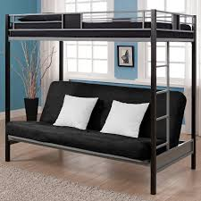 twin over futon bunk bed with mattress included eva furniture