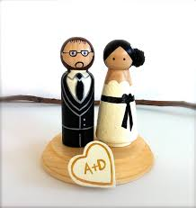 custom wedding cake toppers bride and groom with personalized