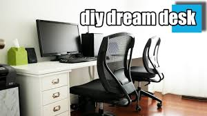 diy dream desk setup a stylish desk for two youtube