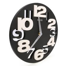 wholesale rounds wall clock modern design 3d big digit modern