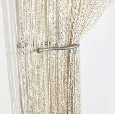 Glitter Curtains Ready Made Voile Panels Jazz Glitter String Curtain Panel