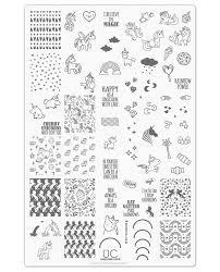 unicorn love uberchic nail stamp plates
