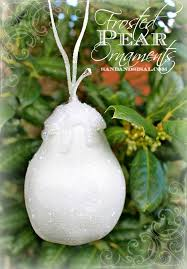 frosted pear ornament hop sand and sisal