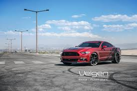 Red Mustang Black Wheels Ruby Red Mustang Gt On Velgen Wheels Velgen Wheels