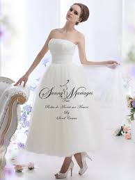 robe de mari e l gante robe de mariée courte et élégante longueur cheville ou longue