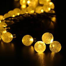 Outdoor Fairy Lights Solar by Ledertek Crystal Ball Solar Powered Lights