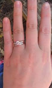 wedding band with engagement ring wedding band for solitaire engagement ring
