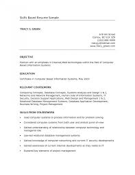 skills for a resume exles skill based resume resumemplate skill based exle present day see