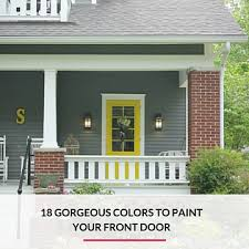 front door colors for gray house the best paint colors for your front door