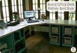 Pottery Barn Bedford Desk Knock Off Rustic Corner Desk