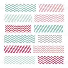 Washi Tape Designs by Set Of Colorful Patterned Washi Tape Stripes Stock Vector Art