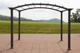 garden oasis 8 u0027 x 10 u0027 arched steel pergola dark brown sears