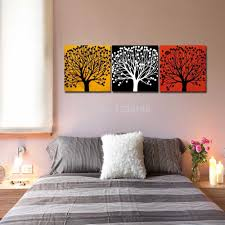 aliexpress com buy frameless painting modern three colors tree
