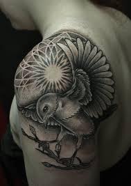 bird tattoo on arm dotwork dragon tattoo