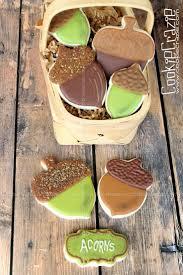 Halloween Sugar Cookie Ideas by 40 Best Leaf U0026 Acorn Cookies Images On Pinterest Acorn Cookies