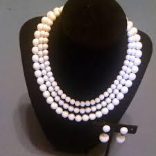 white beads necklace images Shop plastic white bead necklaces on wanelo jpg