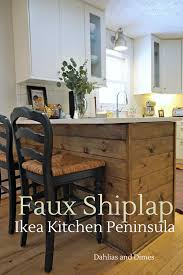 how to install kitchen island base cabinets ikea kitchen peninsula it ours shiplap kitchen