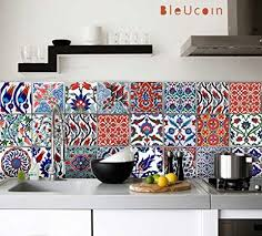 kitchen backsplash decals turkish tile stickers kitchen bathroom backsplash decal pack of 44