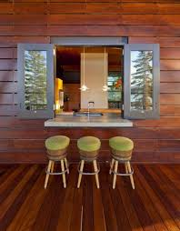 architecture appealing cabin design with brow log wall and