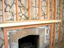 Make A Fireplace Mantel by How To Build A Standard Wall Over A Stone Wall How Tos Diy