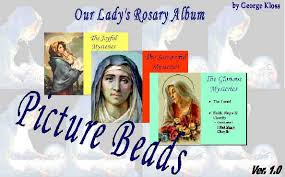 kids color virgin mary rosary holy pictures